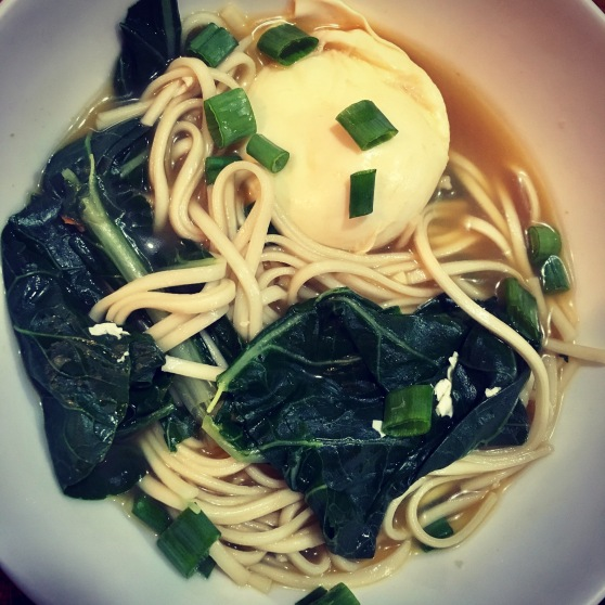 Udon Noddle with Bok Choy and Poached Egg | haak & chai